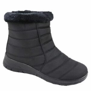 Spoiler Ladies Nylon Bootie With Faux Fur Detail Black