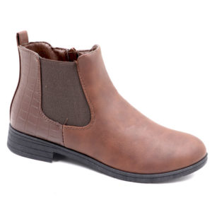 Tatazi Ladies Combo Ankle Boot With Elastic Detail Brown
