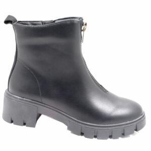 Jada Ladies Chunky Zip Ankle Boot Black