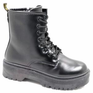 Jada Ladies Lace Up Combat Boot Black