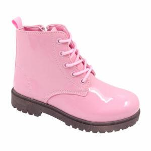 Jada Kidz (Kiddies) Patent Lace Up Ankle Boot Pink