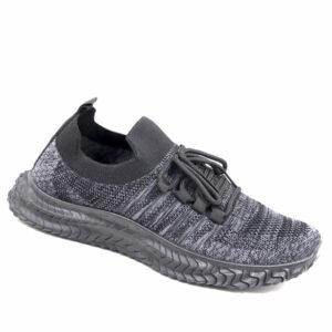 DSL Mens Comfy Slip On Fashion Sneaker Black