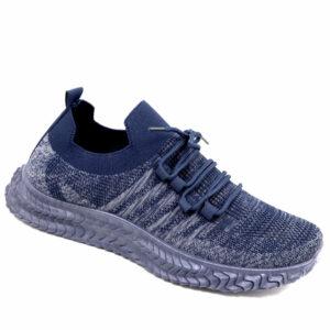 DSL Mens Comfy Slip On Fashion Sneaker Navy