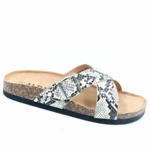Jada Ladies Cross-Over Goeth Slide Sandal Snake