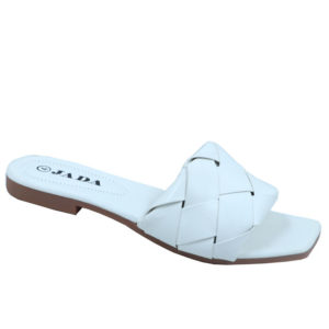 Jada Ladies Patterned Lazy May Sandal White